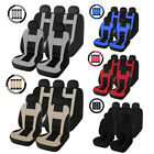 Complete Set Car Seat Cover Front Rear Head Rests For Cars Truck Suv Van