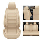 Waterproof Leather Car Seat Covers Set Universal Custom Fit Cushion Protector