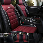 Luxury Auto Car Seat Cover Full Set Waterproof Leather Front Rear Cushion Covers