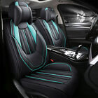 11pcs Universal Leather Car Seat Cover Full Set Front Back Seat Interior Protect