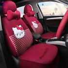 New Universal Limited Edition Hello Kitty Car Seat Cover Cute Cotton Covers Set