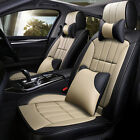 Deluxe 5d Leather Car Seat Cover Cushion Protector Full Set 5-seat Universal Fit