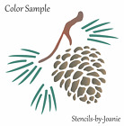 Joanie Stencil Pine Cone Rustic Tree Mountain Cabin Outdoor Nature Diy Signs
