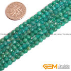 Natural Green Russian Amazonite Gemstone Faceted Round Loose Spacer Beads 15