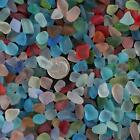 Sea Beach Glass Beads Mixed Colors Bulk Blue Green Jewelry Pendant Decor 10-16mm