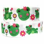 Grosgrain Ribbon 58 781.5 3 Frogs Flowers Frog Printed Combine Shipping