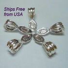 Antique Silver Fancy Glue On Bail Pkg 510 Shipping From Usa Included 185-as