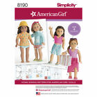 American Girl Doll Clothes Simplicity Sewing Pattern Mccalls Butterick Lot 97
