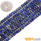 Natural Assorted Stones Faceted Rondelle Spacer Beads For Jewelry Making 15 Yb