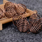 10pcs Gold Plated Spiral Bead Cages Pendants 25mm Jewellery Findings