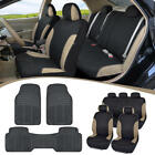 Car Suv Seat Covers For Auto Heavy Duty Rubber Floor Mats - Full Interior Set