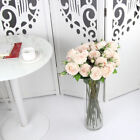 Pink Artificial Rose Silk Flowers Real Touch Flower Floral Valentines Wedding