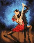 Two Dancing Partners Kissing Hp Design Needlepoint Canvas 295