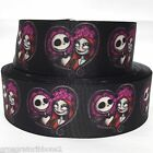 Grosgrain Ribbon 78 1.5 Nightmare Before Christmas Skulls H115 Printed
