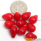 Half Drilled Flower Coral Carved Stone Loose Beads For Earring Jewelry Making Yb