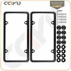 2pcs Silverblack Stainless Steel License Plate Frame Cover With Screw Package
