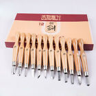 12 Piece Wood Carving Hand Chisel Woodworking Professional Gouges Knife Tool Set