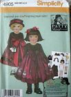 Nip Simplicity 4905 Patty Reed Design Childs Outfit Sewing Pattern