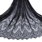 3 Meters Eyelash Lace Fabric Mesh Embroidery Scalloped Forwedding Bride Dress