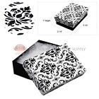 Black Damask Cotton Filled Gift Boxes Jewelry Box Lots Of 122550100