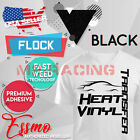 Essmo Flock Heat Transfer Vinyl Htv T-shirt 20 Iron On Heat Press Easy To Weed