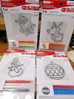 Lot Of 4 Creatology Color Bake Kits Christmas Ornament Stained Glass U Choose