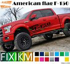 2x For Ford F-150 1948-2018 Pair Side Decals American Flag Graphics Custom F150