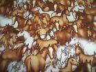 Horses Western Cowboy Bty Cotton Quilt Fabric U-pick See Listing For Details