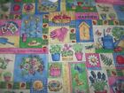 Bunny Lamb Easter Spring Bear Garden Bty Cotton Fabric U-pick Read For Info