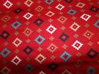 Southwestern Blanket Native American Cactus Cotton Fabric U-pick See Info Bty