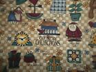 Home House Kitchen Plates Curtains Bty Cotton Quilt Fabric U-pick Read For Info