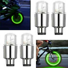 Led Autos Suv Wheel Tyre Tire Air Valve Stem Caps Decoration Green Light Lamp