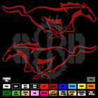 Set Of 2 Ford Mustang Pony Decal Sticker 5.0 Gt Emblem Badge Racing Horse 120