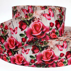 Grosgrain Ribbon 78 1.5 Roses Flowers Butterfly Printed Combine Shipping