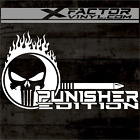 Flaming Punisher Editionskull Vinyl Dicut Decal 2 Sizes15 Color Free Shipping