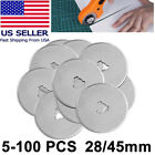 28mm 45mm Rotary Cutter Spare Blades Leather Quilters Sewing Patchwork Fabric