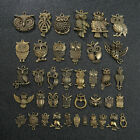 20x Tibetan Silver Owl Charms Pendants Crafts Bracelet Beads For Jewelry Acces