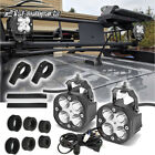For Jeep Cherokee Wrangler Jk Tj Roof Rail Led Light Pods Wire Roll Bar Clamps