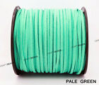 3mm X 1.5mm Faux Suede Cord Leather Lace Beading String Bracelet Necklace Making