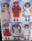 Doll Clothes Pattern B4699 Coat Dress Nightgown Beret Pinafore 18