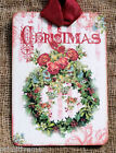 Hang Tags Vintage Style Christmas Wreath Tags Or Magnet 390 Gift Tags
