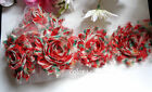 2.5 Print Chic Shabby Chiffon Flower Trim Select Color And Length