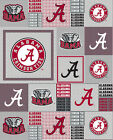 University Of Alabama Fleece Fabric-alabama Crimson Tide Fleece-all Patterns