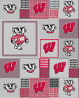 University Of Wisconsin Fleece Fabric-wisconsin Badgers Fleece-all Patterns