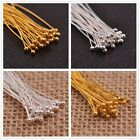 Free Shpping 100pcs Silver Plated Ball Head Eye Pins Jewelry Findings 16-70mm
