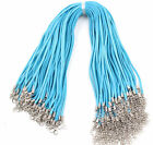 10pcs Suede Leather Cord Chains Diy Necklace Pendant Lobster Clasp String 17
