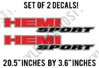 Hemi Sport Dodge Ram Bed Side Truck Pair Of Decal Vinyl Stickers
