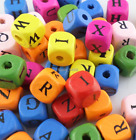 2401500pcs Wood Mixed Cube Spacer Beads Alphabet Letter A-z 10x10m Diy Jewelry