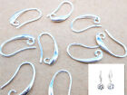 10pcs Diy Crystal Beads Silver Smooth Pinch Bail Earring Hook Ear Wire Hooks