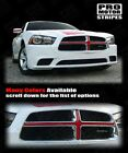 Dodge Charger 2011-2014 Front Grill Cross Insert Stripe Decal Choose Color